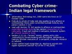 combating cyber crime indian legal framework
