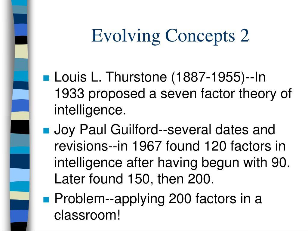 Evolving Concepts 2