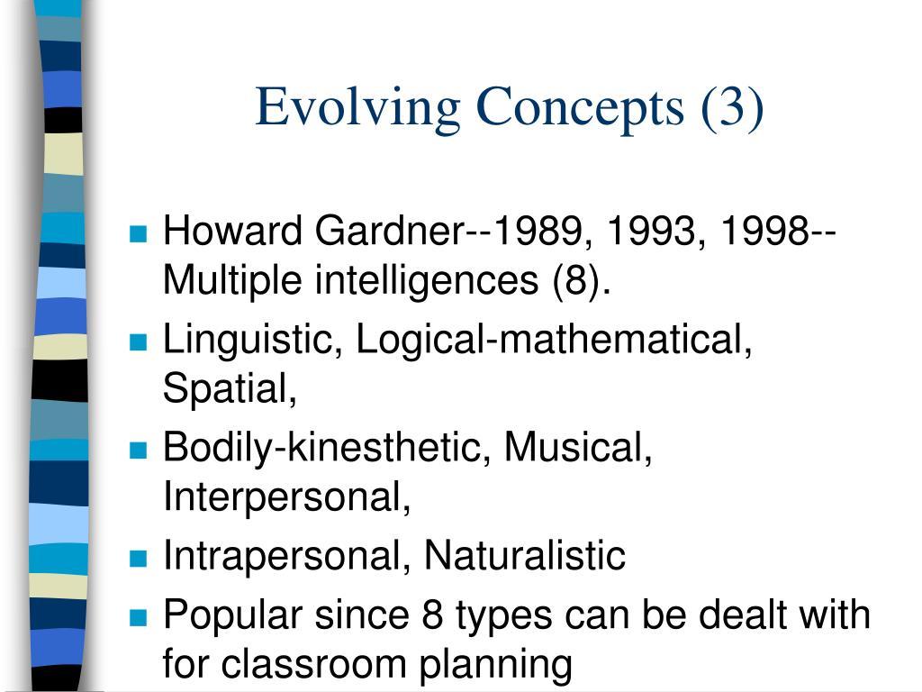 Evolving Concepts (3)