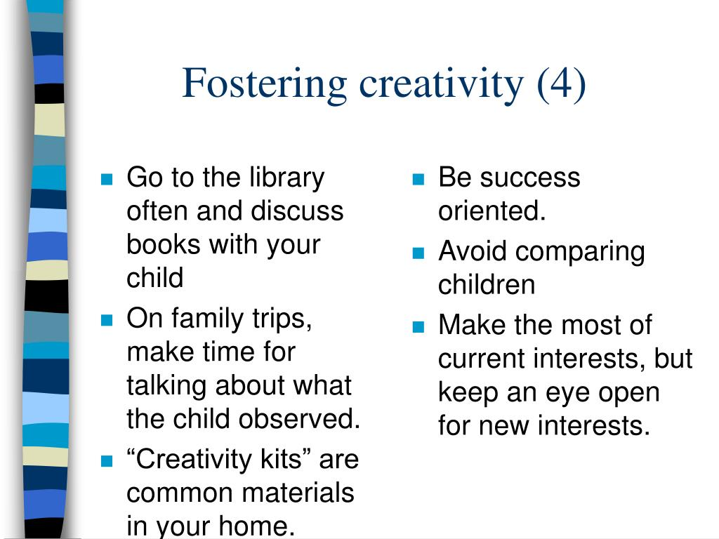 Go to the library often and discuss books with your child