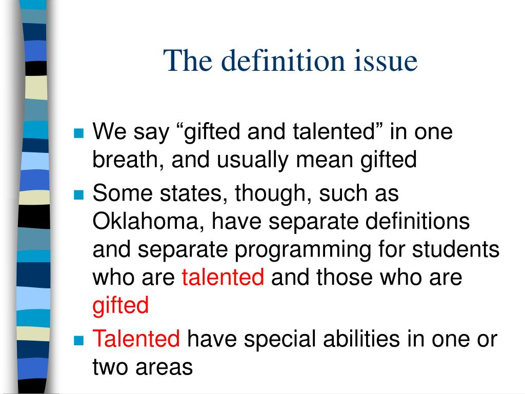 The definition issue