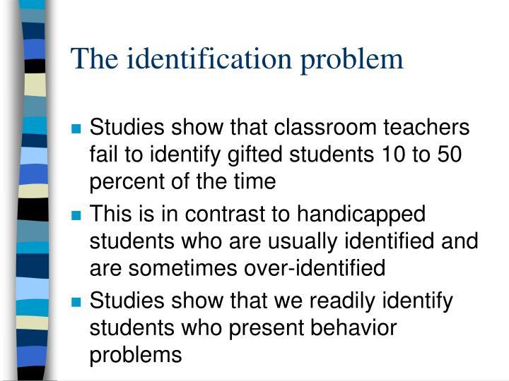 The identification problem