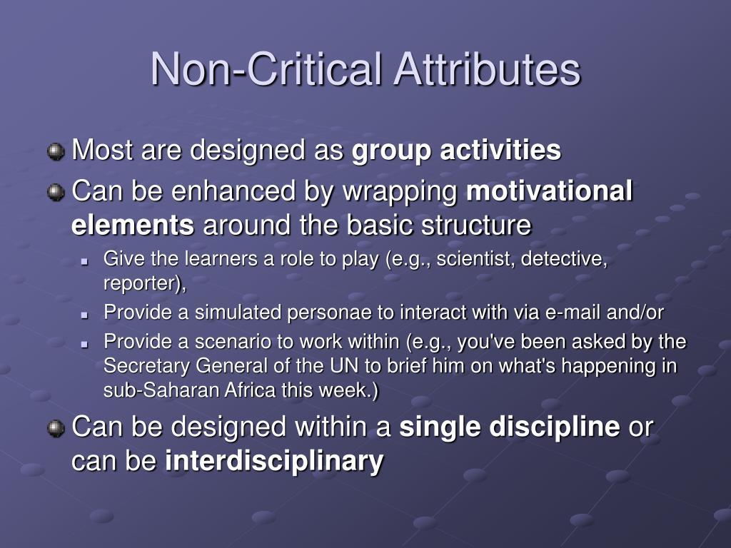 Non-Critical Attributes