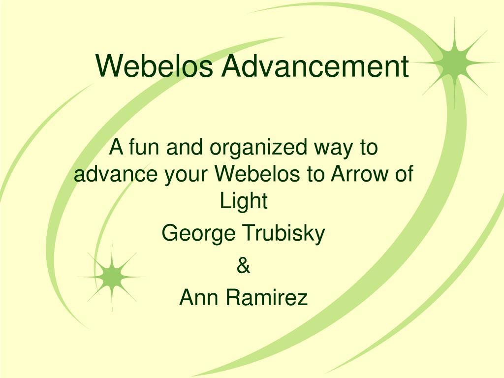 Ppt Webelos Advancement Powerpoint Presentation Id170287