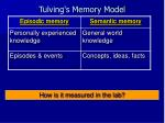 tulving s memory model