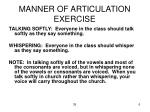 manner of articulation exercise