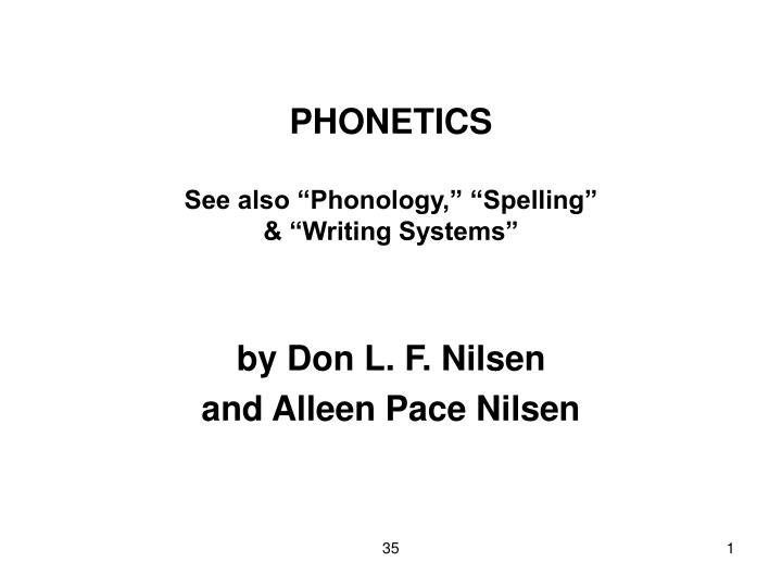 phonetics and phonology paper