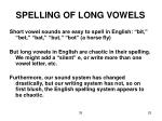 spelling of long vowels