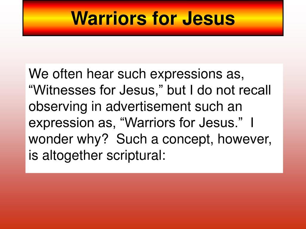 warriors for jesus l.