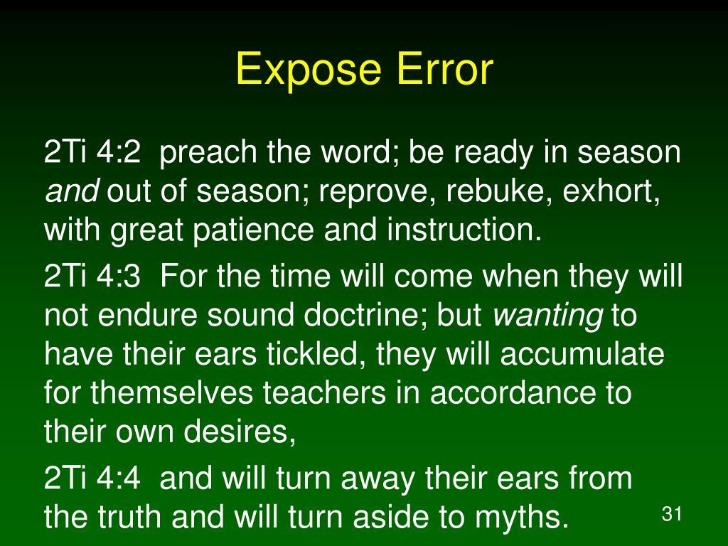 Expose Error