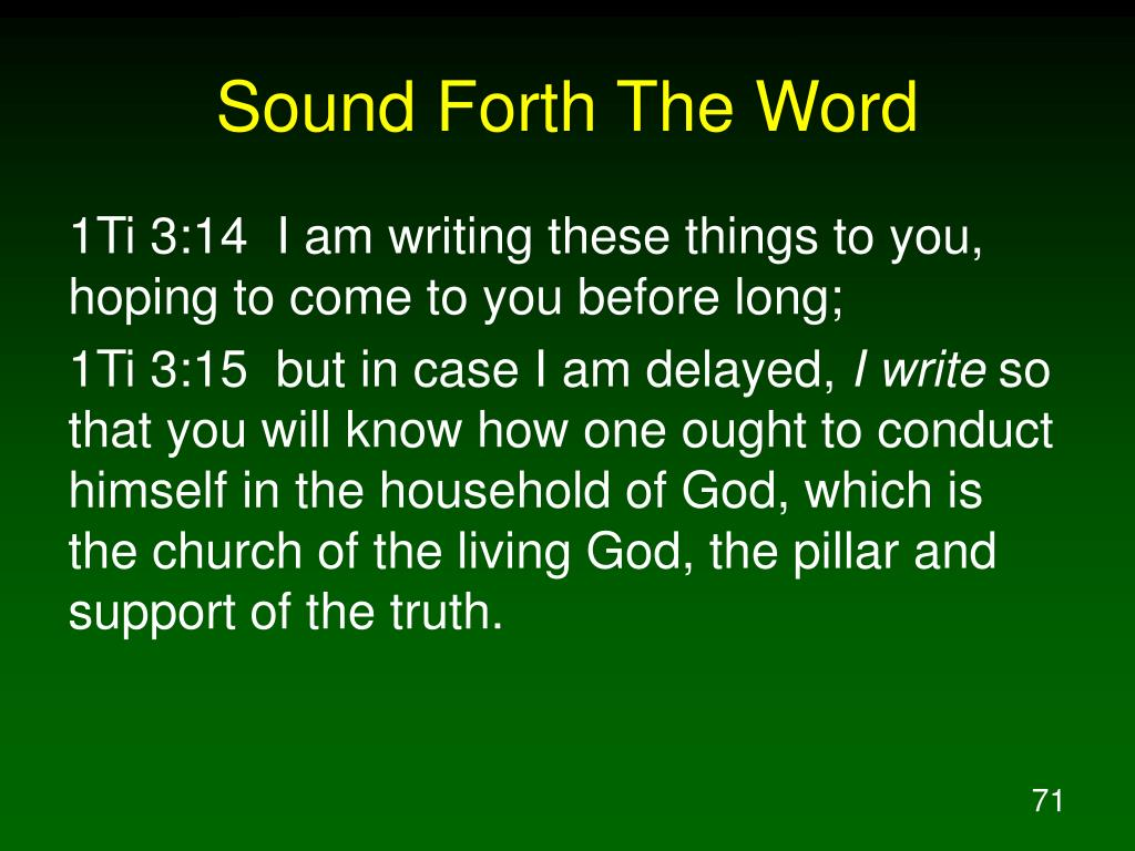 Sound Forth The Word