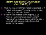 adam and eve s coverings gen 3 6 10 21