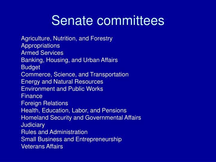Senate committees