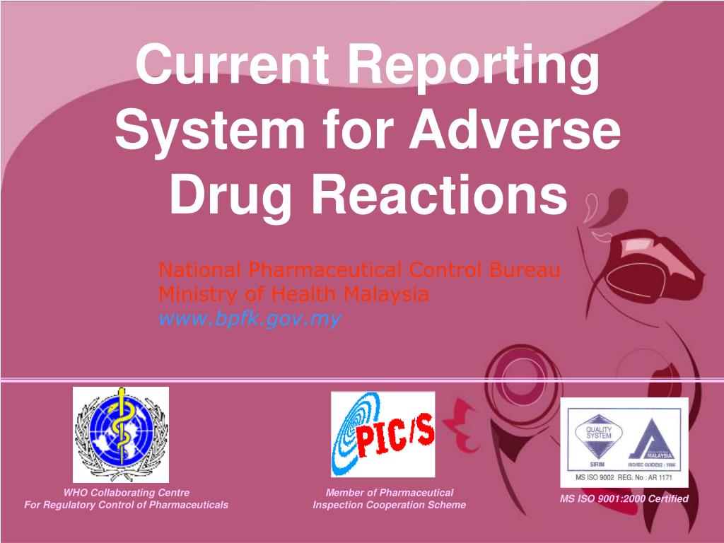 current reporting system for adverse drug reactions l.