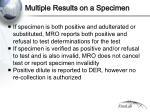 multiple results on a specimen