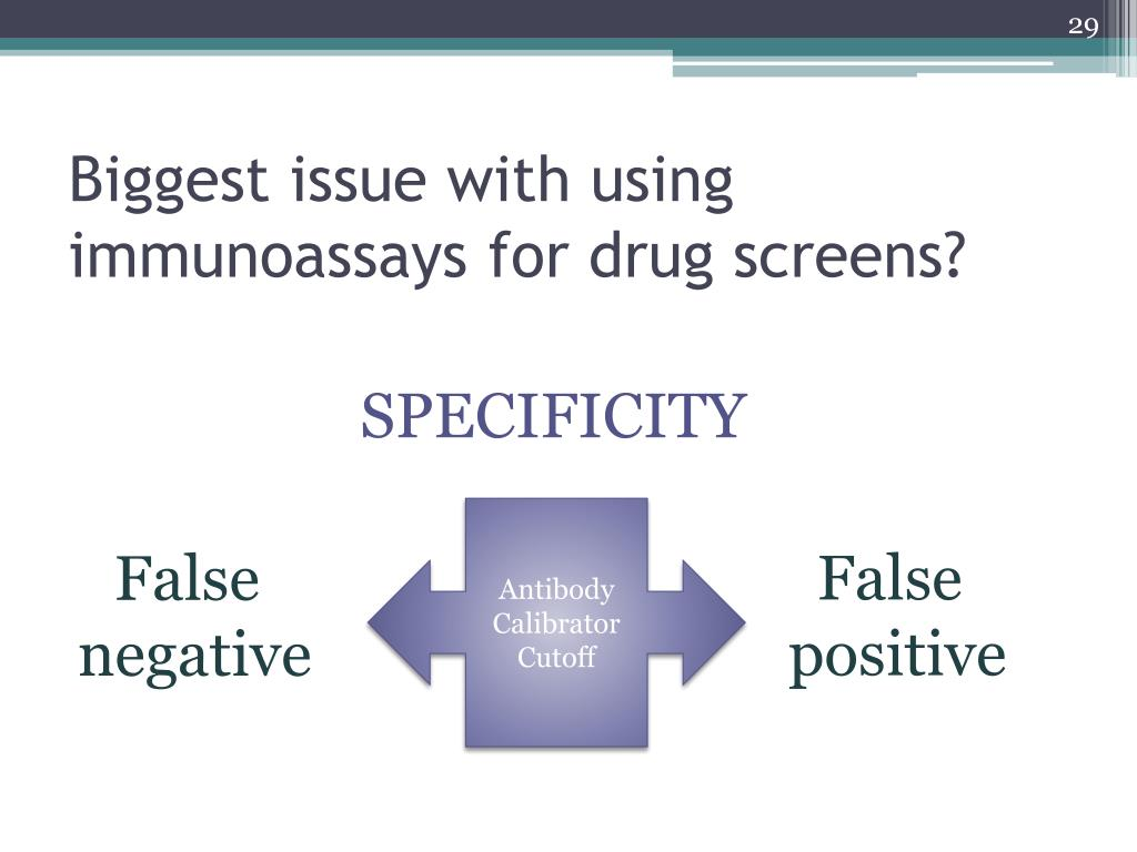 Biggest issue with using immunoassays for drug screens?