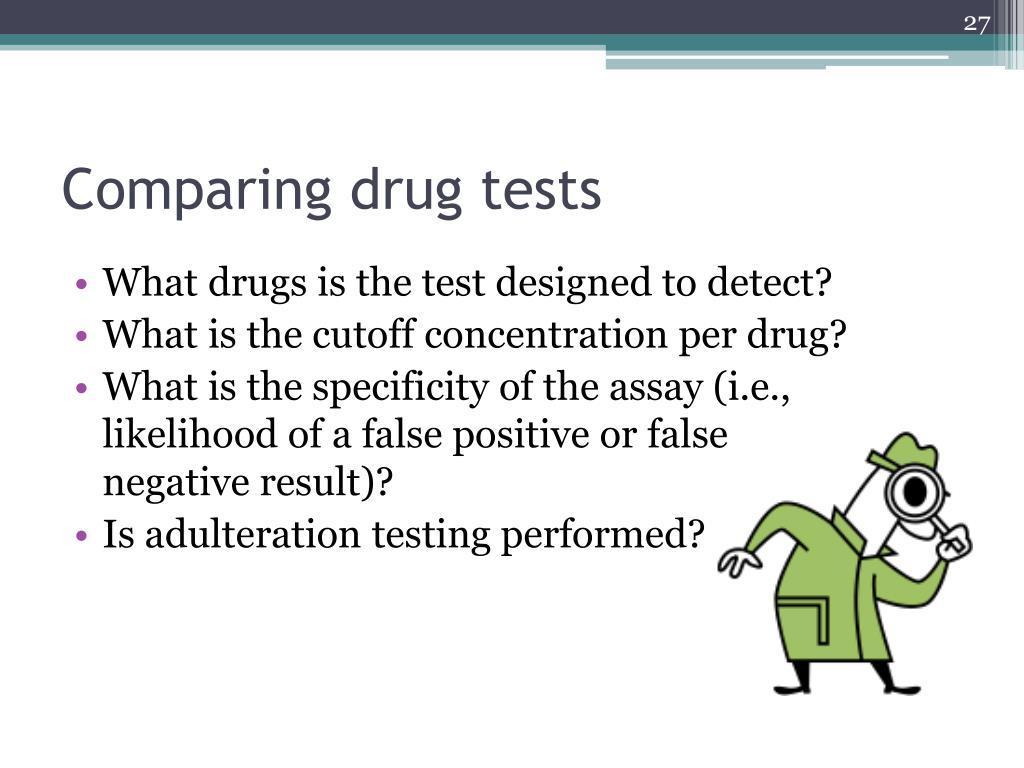 Comparing drug tests