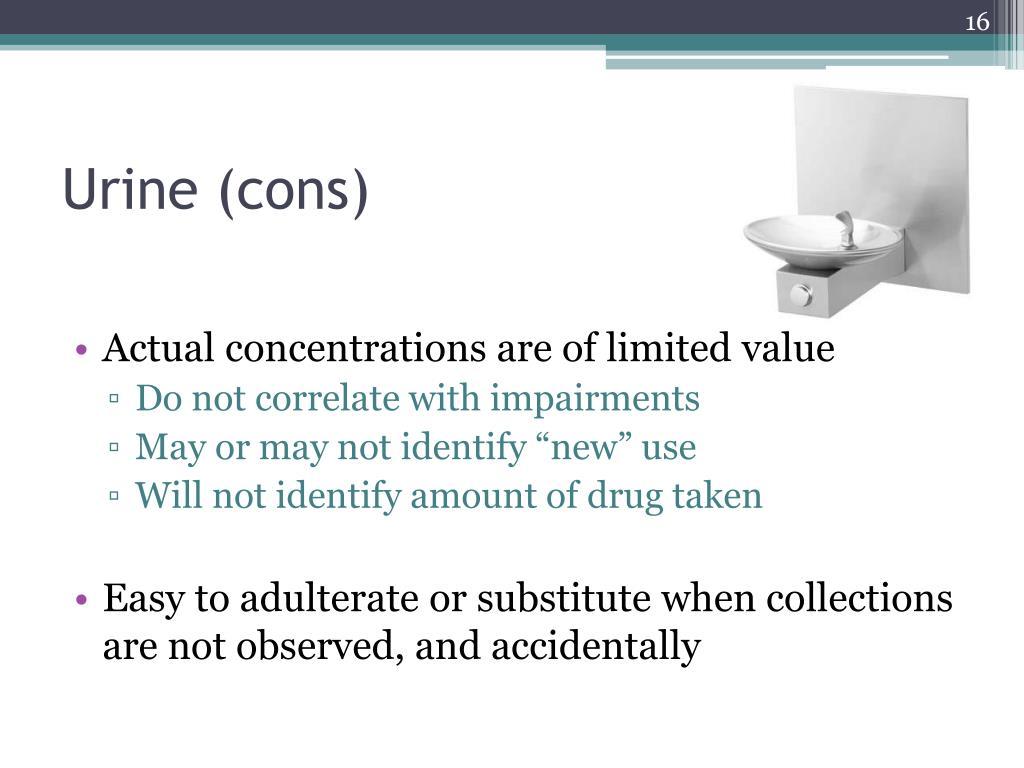Urine (cons)