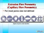 extrusion flow porometry capillary flow porometry14