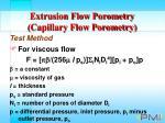 extrusion flow porometry capillary flow porometry17