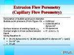 extrusion flow porometry capillary flow porometry24