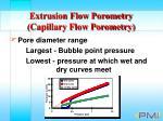 extrusion flow porometry capillary flow porometry26