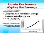 extrusion flow porometry capillary flow porometry31