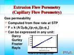 extrusion flow porometry capillary flow porometry32