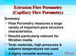 extrusion flow porometry capillary flow porometry36