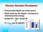 mercury intrusion porosimetry49