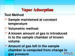 vapor adsorption73