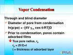 vapor condensation89