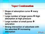 vapor condensation96
