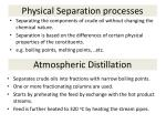 physical separation processes