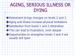 aging serious illness or dying
