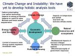 climate change and instability we have yet to develop holistic analysis tools