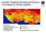 example mapping sub national economic vulnerability to climate volatility