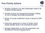 five priority actions