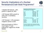 security implications of a nuclear renaissance crash build programme