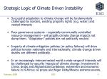 strategic logic of climate driven instability