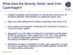 what does the security sector need from copenhagen