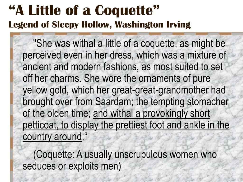 """A Little of a Coquette"""