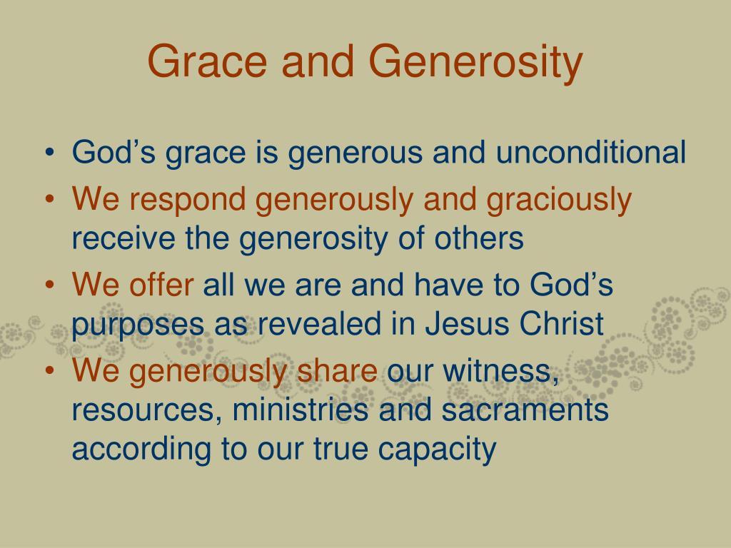 Grace and Generosity