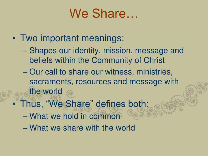 We share3