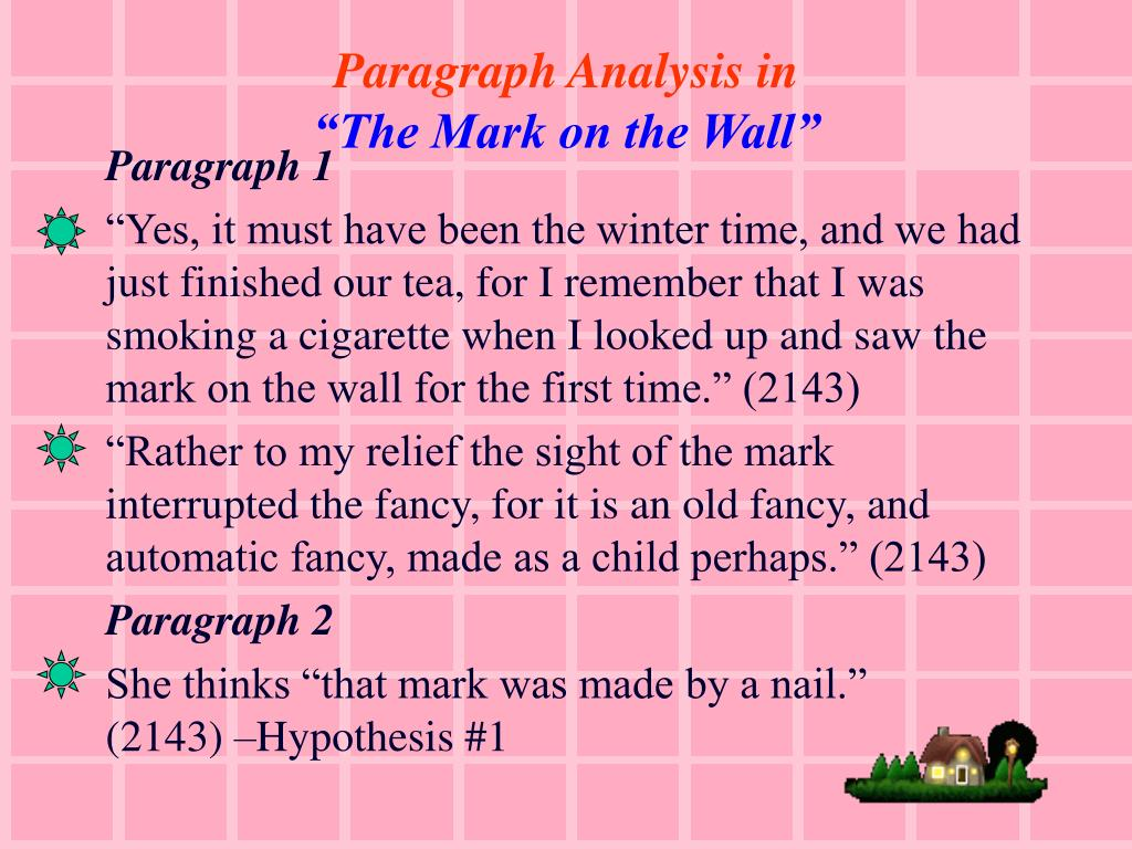 Paragraph Analysis in