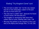 ebeling thy kingdom come cont