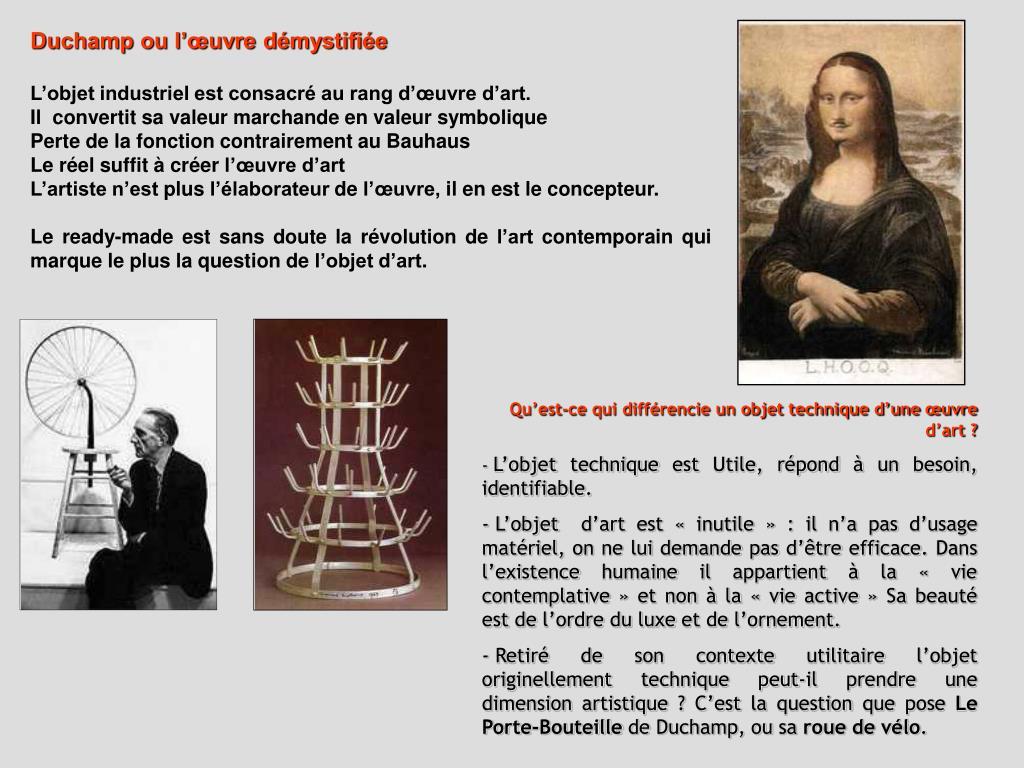 Duchamp ou l'œuvre démystifiée