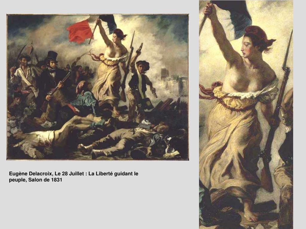 Eugène Delacroix, Le 28 Juillet : La Liberté guidant le peuple, Salon de 1831