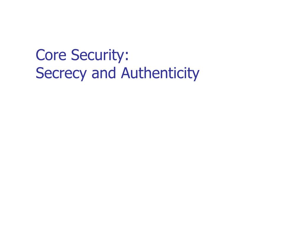Core Security: