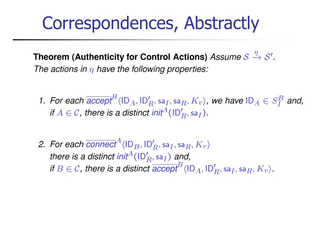 Correspondences, Abstractly